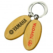 Large Oval Wooden Keyrings