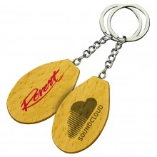Oval 2 Wooden Keyrings