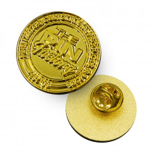 25mm Moulded Shiny Gold Sample Pins