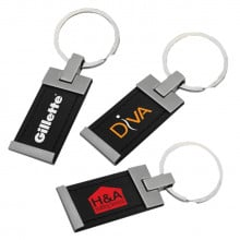 Accent Leather Keyring