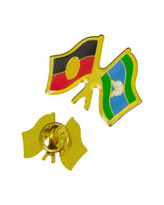 Indigenous Twin Flags Lapel Pin