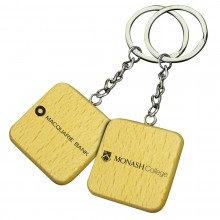 Square Wooden Keyrings