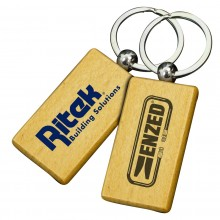 Large Rectangle Wooden Keyrings