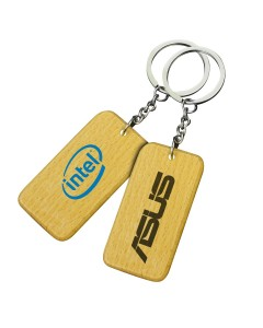 Small Rectangle Wooden Keyrings