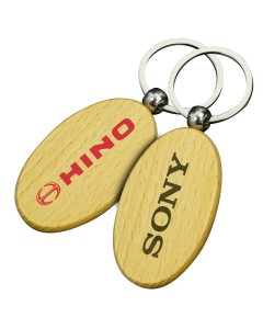 Small Oval Wooden Keyrings