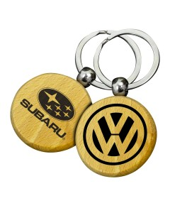 Circle Wooden Keyrings