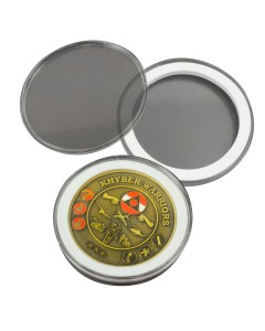 Clear Round Medal Case