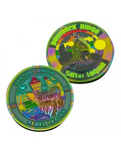 Rainbow Plated Challenge Coins
