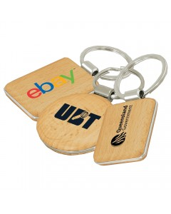Wooden/Metal Keyring